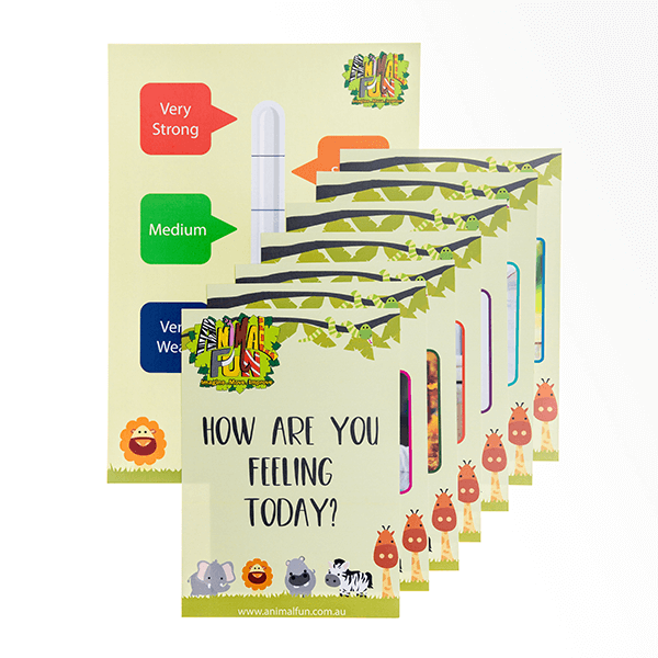 Animal Fun How Are You Feeling Today Cards